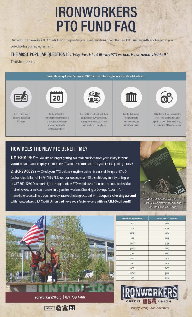 PTO Fund – Ironworkers USA Credit Union